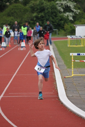 Finish Fawzi op de sprint